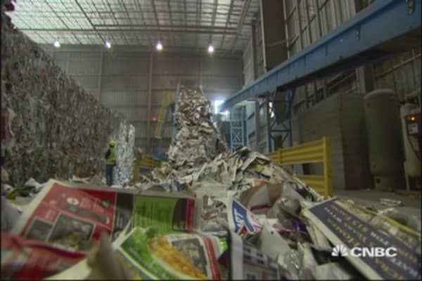 WM CEO: Unprofitable to recycle