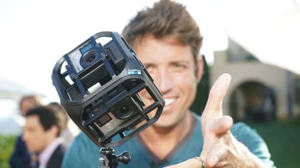 Nick Woodman, founder and chief executive officer of GoPro Inc.