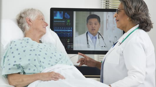 Doctor patient teleconference medicare