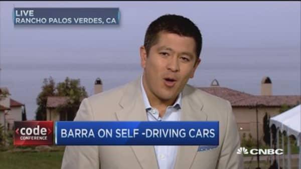 GM's Barra on self-driving cars