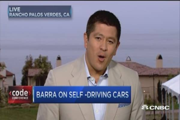 GM's Barra on self-driving cars