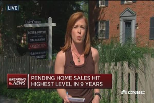 Pending home sales up 3.4%