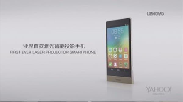 Lenovo unveils new projector phone