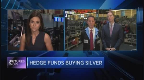Hedge funds pile into silver
