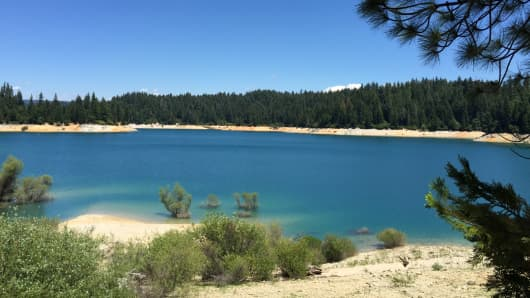 This reservoir, owned by South Feather Water & Power, in California is the cheapest water in the country.