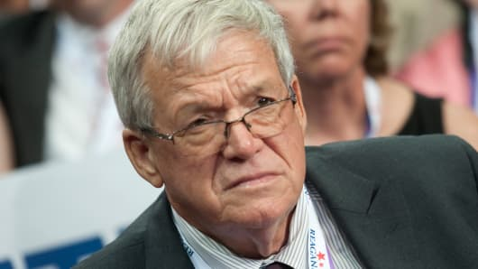 Former Speaker of the US House of Representatives Dennis Hastert
