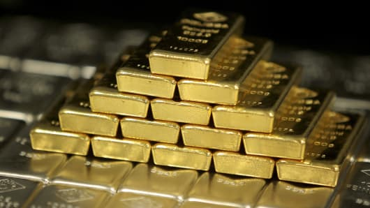 Gold bars in Vienna, Austria