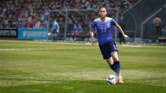 FIFA 16 video game footage