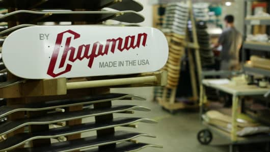 Chapman skateboard manufacturing.