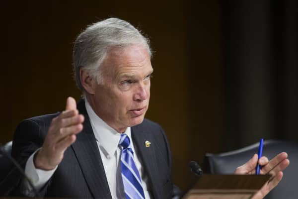 Senator Ron Johnson, a Republican from Wisconsin.