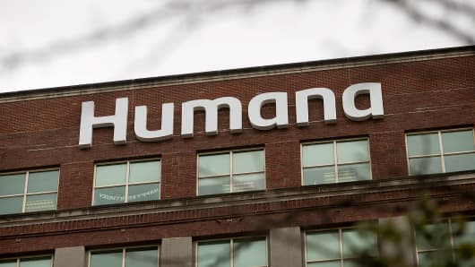 The Humana Inc. headquarters office stands in Louisville, Kentucky.