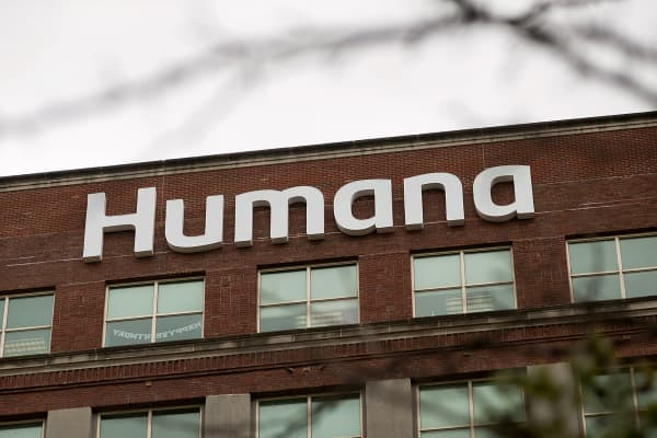 The Humana headquarters office stands in Louisville, Kentucky.