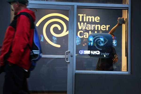 This 2015 file photo shows a Time Warner Cable location in New York.