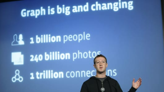 Facebook Chairman and Chief Executive Mark Zuckerberg