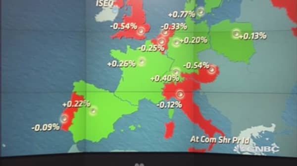 Europe shares close mixed; Greece in focus