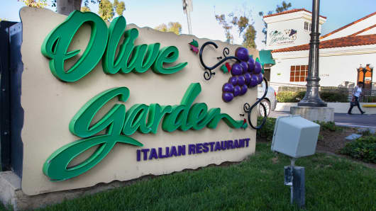 An Olive Garden restaurant in Laguna Hills, California