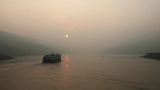 A different cruise on China's Yangtze River.
