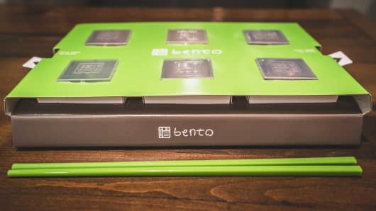 Bento's specially-designed box.
