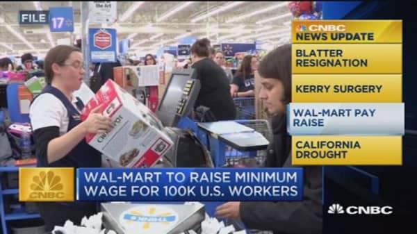 CNBC update: Walmart pay raise