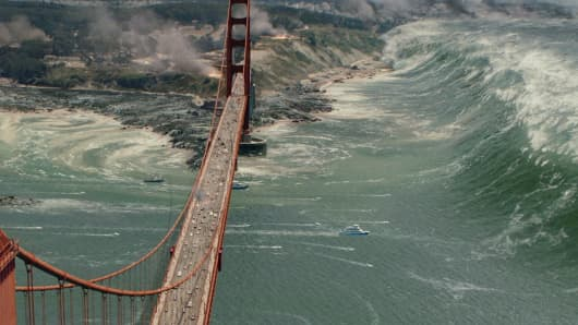 A scene from the film San Andreas.