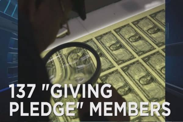 137 billionaires have made the Giving Pledge
