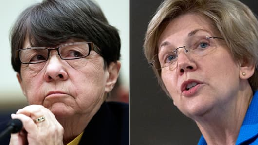 Mary Jo White and Elizabeth Warren