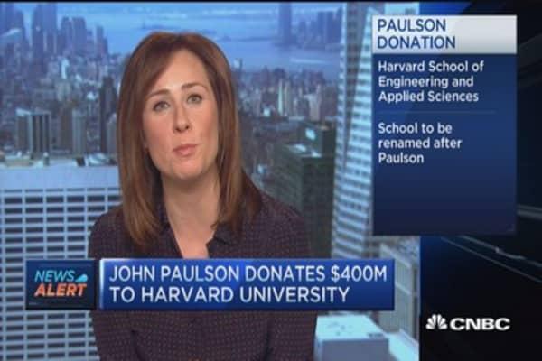 John Paulson donates $400M to Harvard