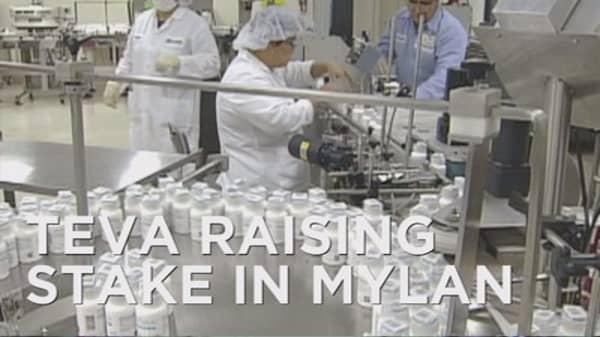 Teva raises stake in Mylan