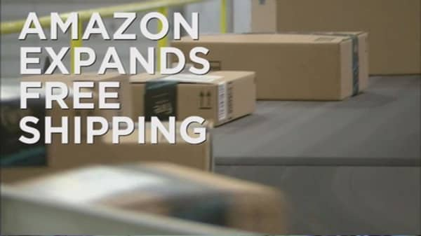 Amazon offers free shipping for small products