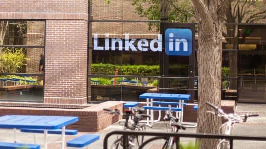 The LinkedIn building in Mountain View, California.