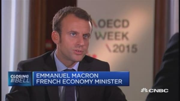 Macron: Greek default unlikely