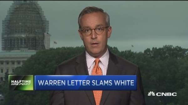 Warren letter slams White