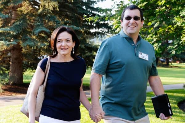 Sheryl Sandberg and husband David Goldberg in 2013.