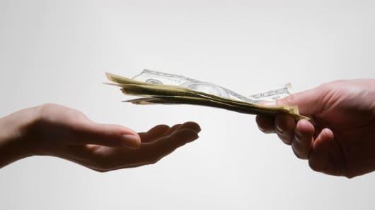 Money dollars giving