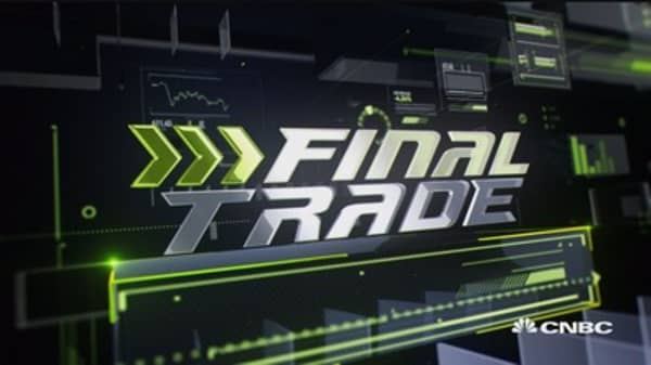 Fast Money Final Trade: JPM, PRU, MYL & GS