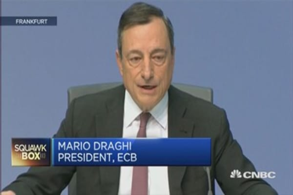 ECB's Draghi: Get used to higher volatility