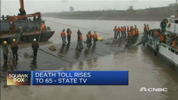 China ferry disaster: Death toll jumps to 65