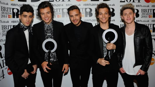 One Direction, at Brit Awards 2014