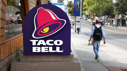 A Taco Bell restaurant in Laguna Beach, California.