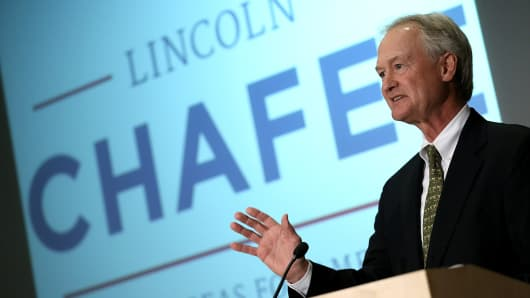 Democratic presidential candidate and former Sen. Lincoln Chafee (D-RI).