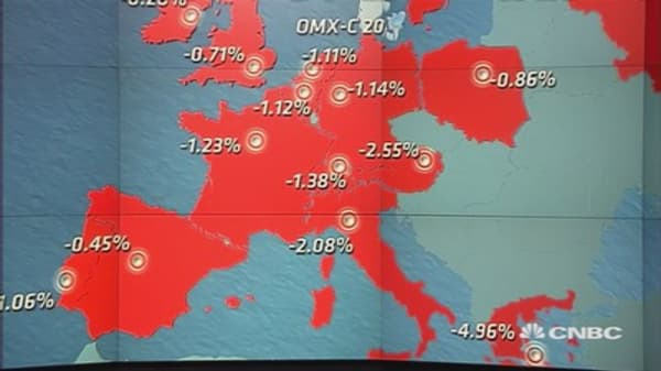 Europe closes lower after US data