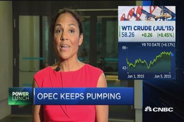 OPEC keeps pumping