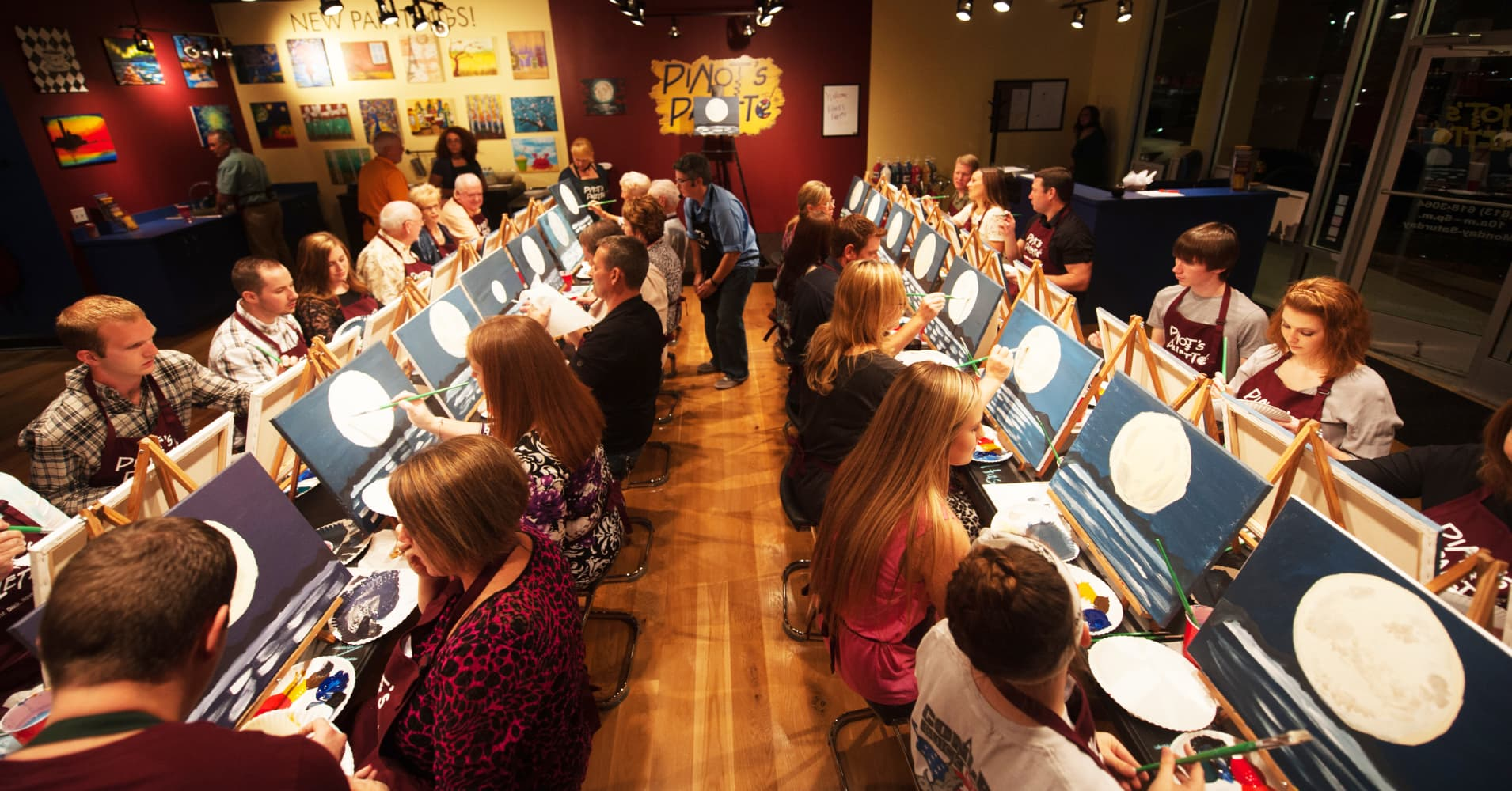 Wine and painting nj mafiamedia for Sip and paint charlotte nc
