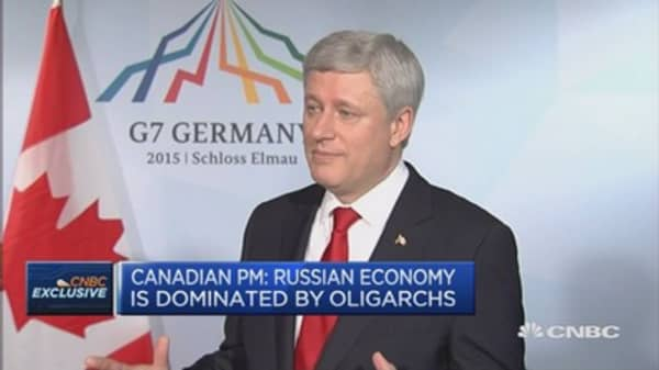 Russia is dominated by oligarchs: Canadian PM