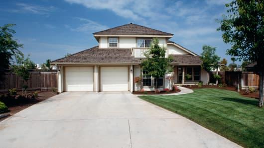 Driveway at suburban home