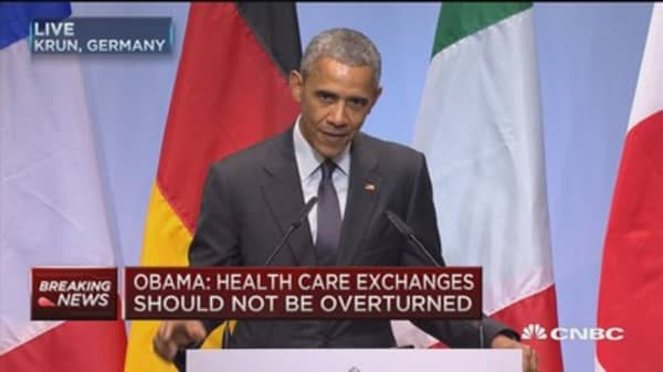 Obama: Health care exchanges should not be overturned