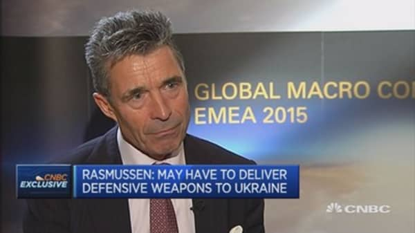 Rasmussen: No military solution to Ukraine crisis