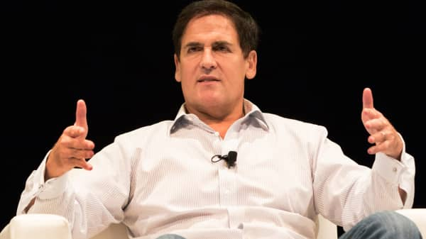 Mark Cuban speaking at the Iconic conference