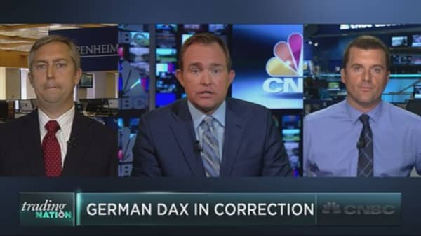German DAX enters correction territory