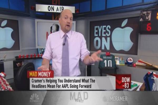 Cramer: Own, don't trade Apple